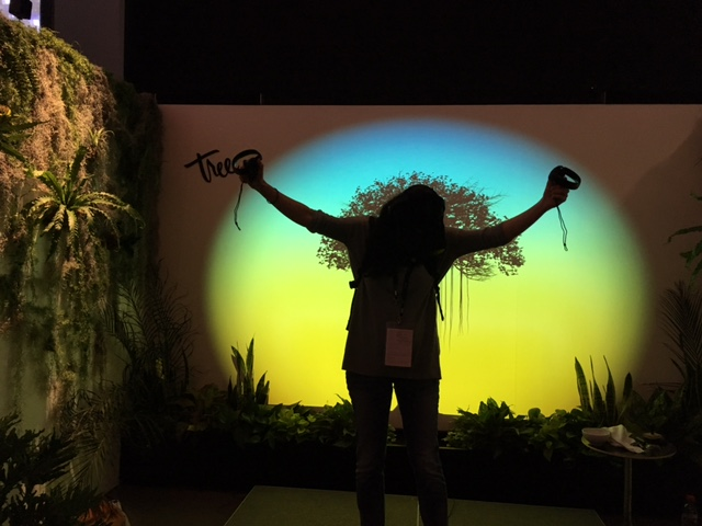 Tree VR By Winslow Porter III and Milica Zec. Experience Design and installation. Photo by Maryanna-Antoldi