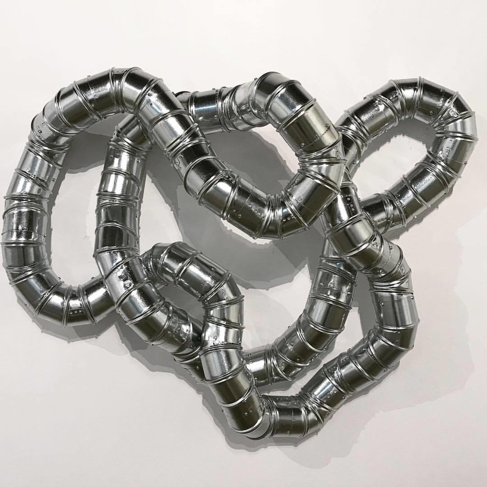 Ron Ulicny, Raison No. 122, 2017, galvanized steel, 34 x 51 x 12 inches