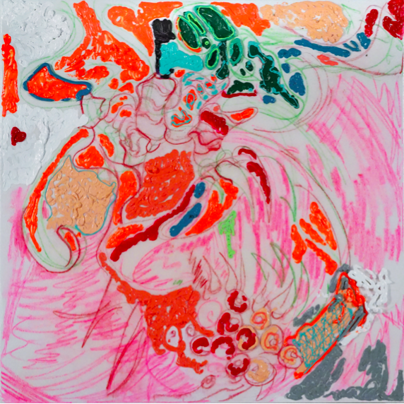 Jennifer McClish,Monster Mint,36 x 36 inches