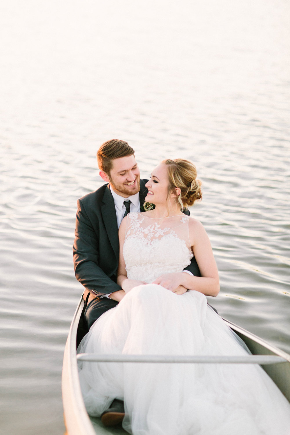 Wedding photograph on The Pour Vineyard lake