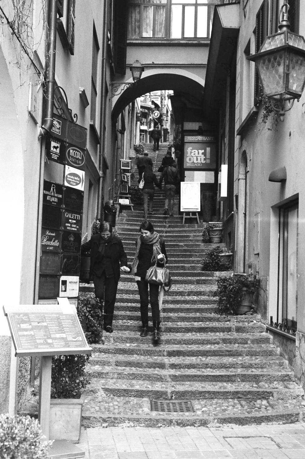 Having just arrived in Bellagio, a small town on Lake Como in northern Italy.