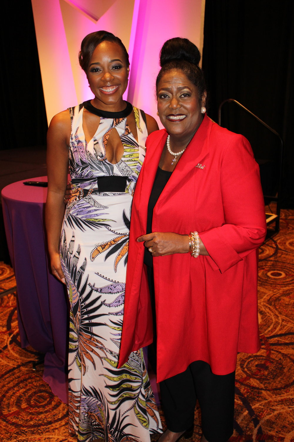 Dr. Novellus Pictured with Lifetime Award Winner:  Ingrid Saunders Jones, Leader and Advocate for Women and Chair of the National Council of Negro Women
