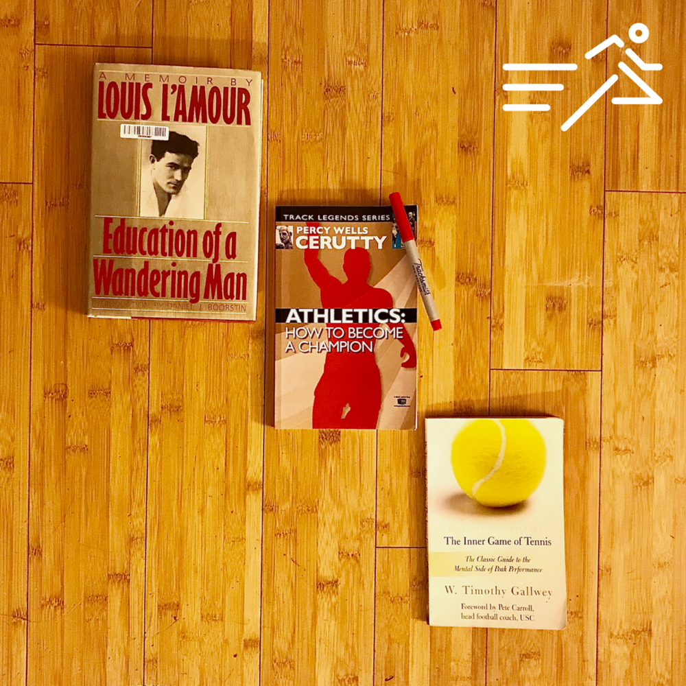 The generous and important works of L'Amour,Cerutty, & Gallwey constitute The Podium of books read by  Jonathan Marcus  in 2017.