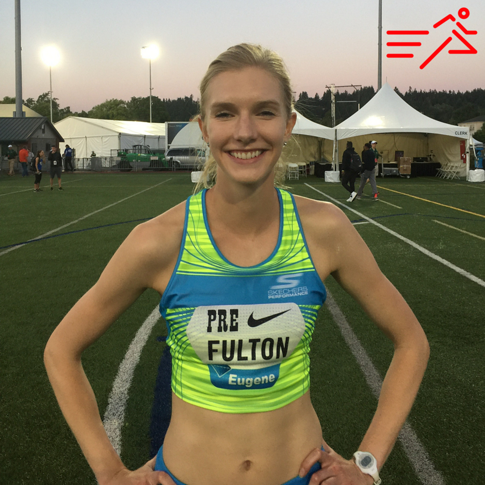 High Performance West and Skechers Performance sponsored middle distance athlete,  Eleanor Fulton  is all smiles after her first Diamond League experience in 2017, rabbiting the Women's 1500m National Race at the Pre Classic in Eugene, Ore. Her authentic expression of excitement and satisfaction on competition day is one way score is kept within the HPW ranks.