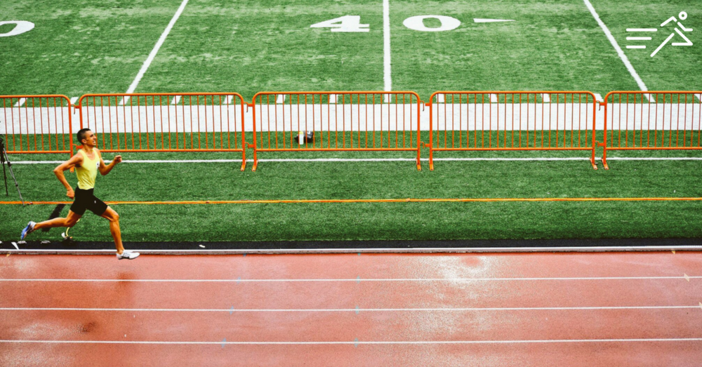 Nathan charges down the homestrech en route to winning the 2016 Portland Twilight meet where he set his lifetime best in the event of 1:47.86.