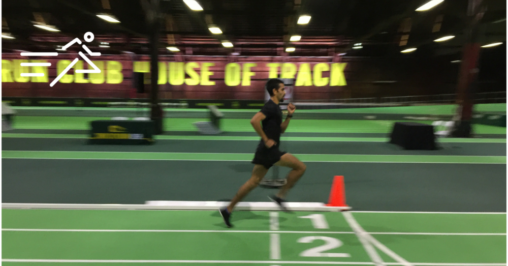Daniel Herrera enjoys a workout in winter of early 2016 at the House of Track indoor pop-up facility.