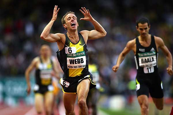 Alan pictured winning the1500m at 2007 Paris Golden League Meeting. Photo:  IAAF