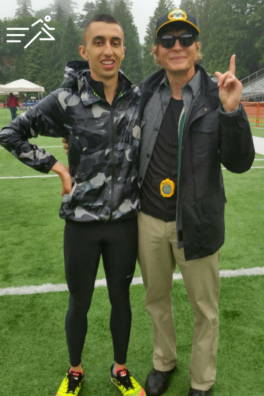In 2016, Nathan Fleck (left) ran 1:47 for 800m to win the Portland Twilight, beating Olympians and US Champions in the process. Sharing that moment with him is one of my fondest coaching memories.