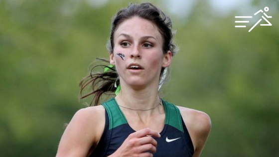 Sarah Dean competes in cross country for Portland State University in 2014.