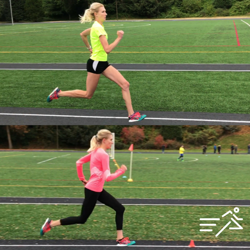 HPW ELITE athlete Eleanor Fulton's quality of movement is drastically improved from July 2017 (top) compared to November 2017 (bottom).