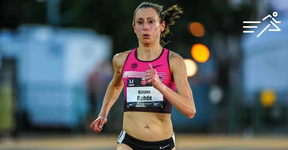 Kristen Rohde competes at the 2014 USATF Outdoor Championships in the Women's 10,000m. Photo:  Michael Scott