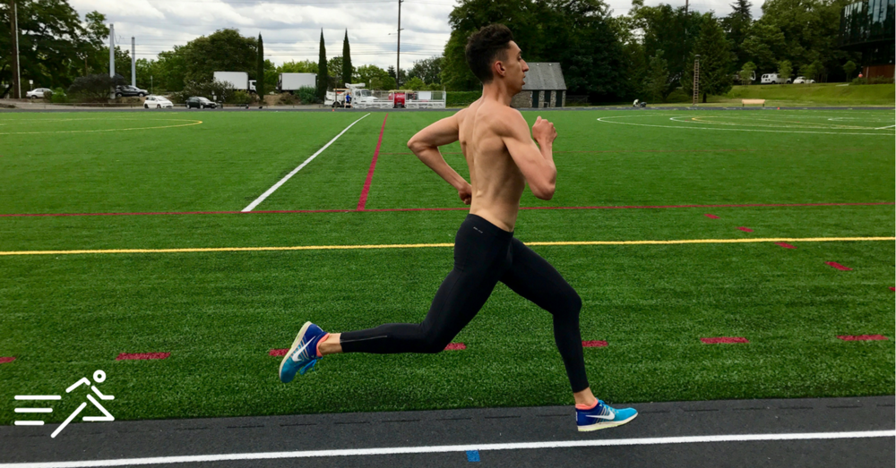 HPW ELITE 800m man, Nathan Fleck, always enjoys a quality sprint session.