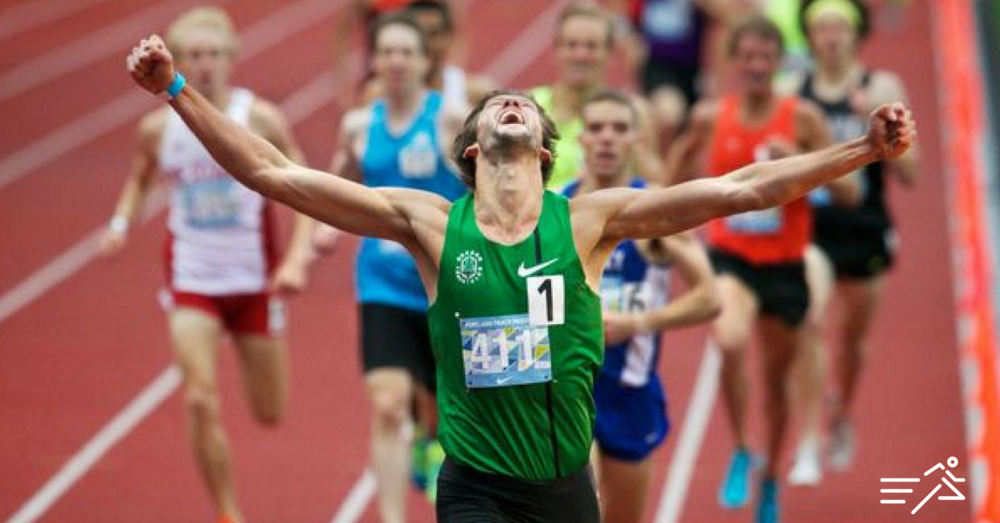 Andy Wheating pictured winning the 2015 Portland Track Festival High Performance 1500m.