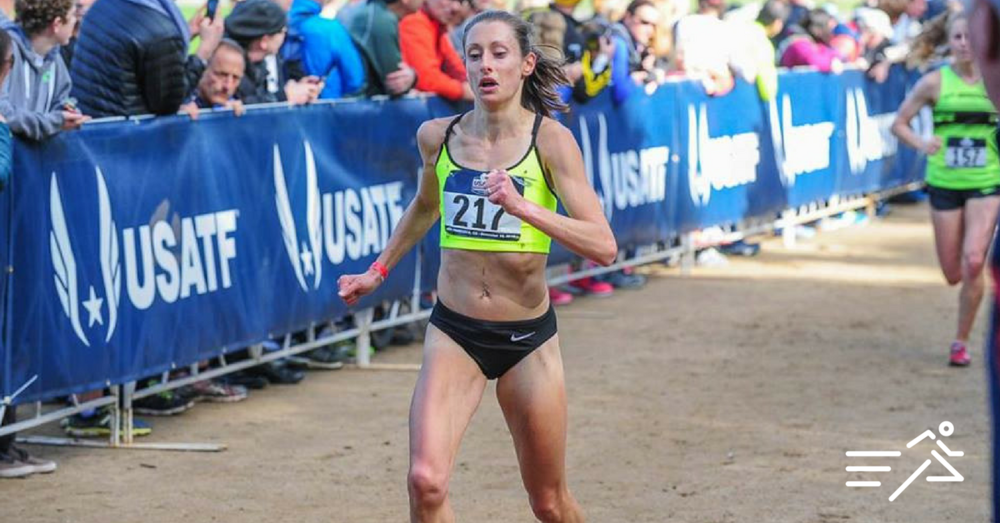 Kristen Rohde shown placing 9th at the 2015 USATF Club XC Championships. (Photo:  Michael Scott )