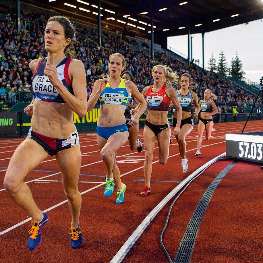 McKayla Fricker competes in the 2016 Prefontaine Classic Women's 800m National race.