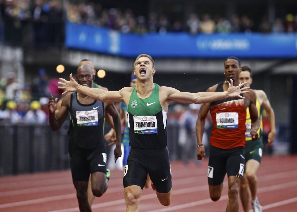 Nick Symmonds winning the 2012 US Olympic Trials in the Men's 800m.