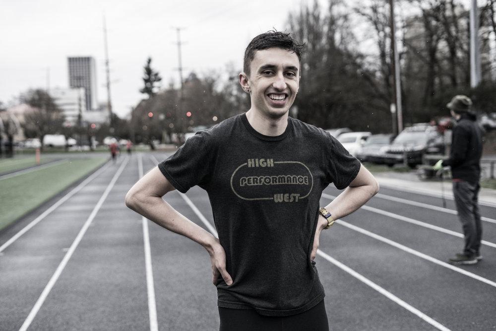 1:47 800m man, Nathan Fleck, of High Performance West Elite.