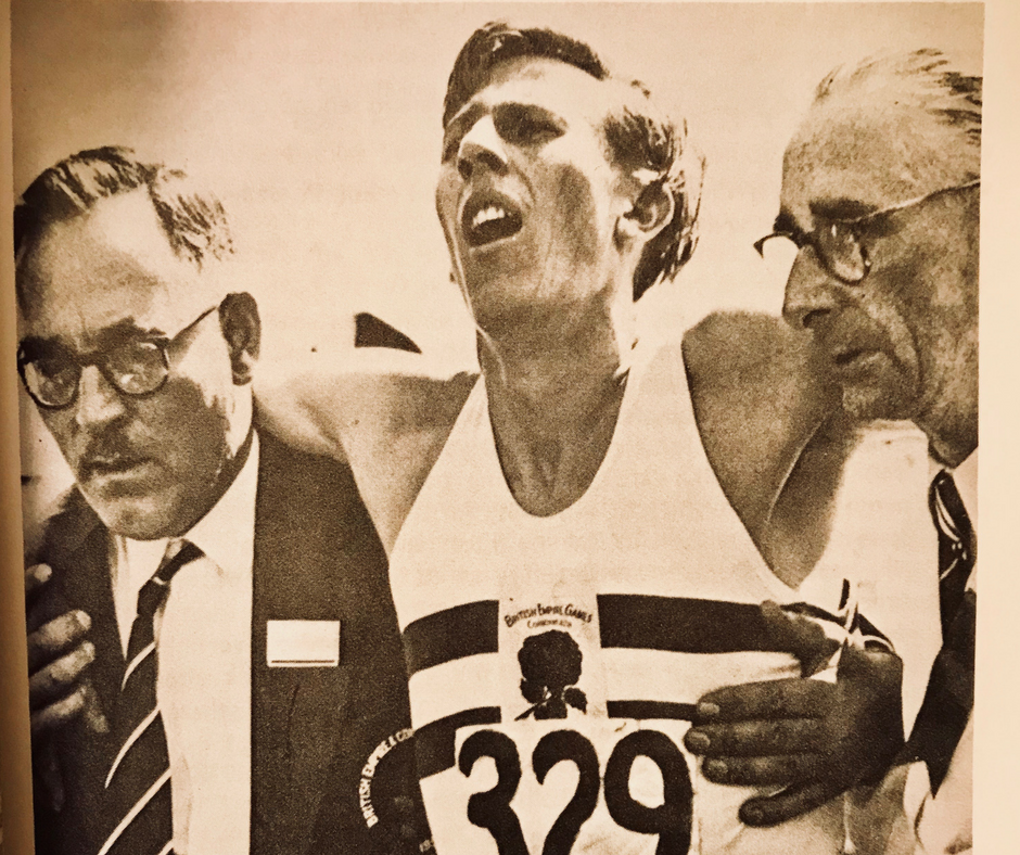 Roger Bannister, after the British Empire Games victory over john Landy in the mile in 3:58.