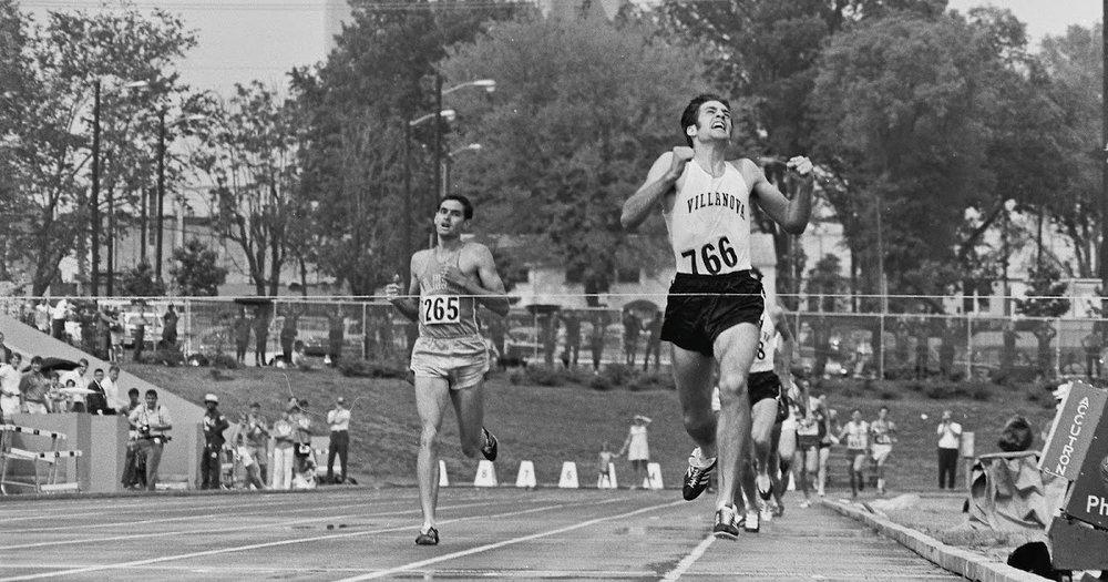 Liquori defeats Jim Ryun for 1969 NCAA mile title.