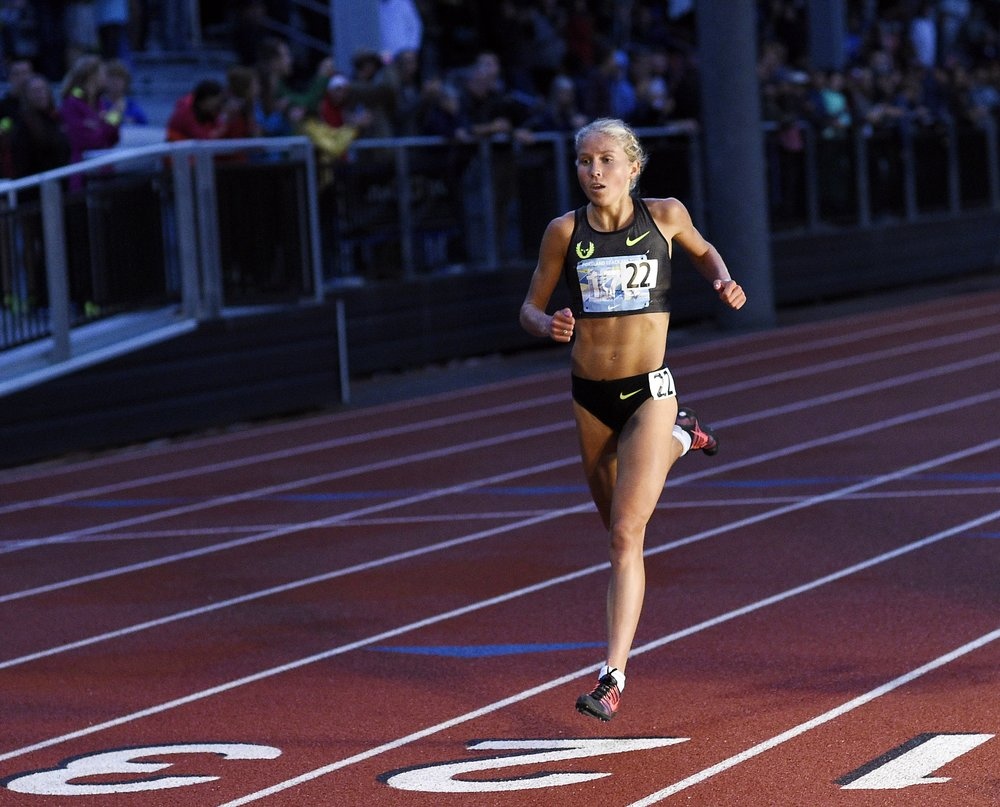 Jordan Hasay at the 2014  Portland Track Festival .