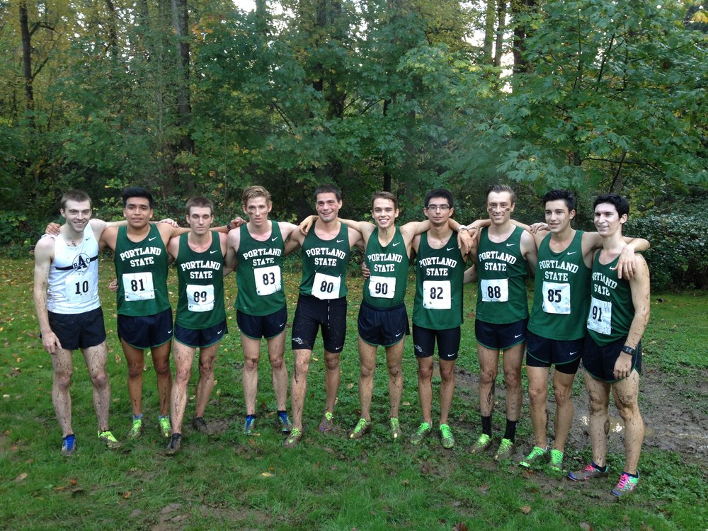 The 2014 Portland State Men's Cross Country team.