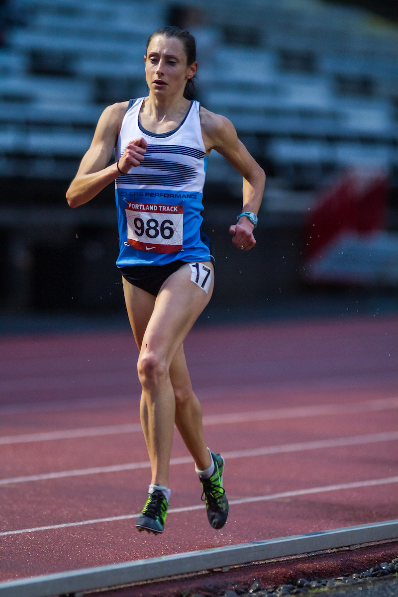 15:57 5,000m runner and High Performance West Elite member, Kristen Rohde.  photo ©  kevmofoto.com