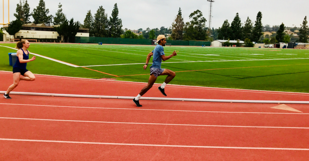 The Mexican record holder in the 1 Mile,  Daniel Herrera , back at the oval office, getting better, the morning after his 3:39.45 lifetime best in the 1500m.