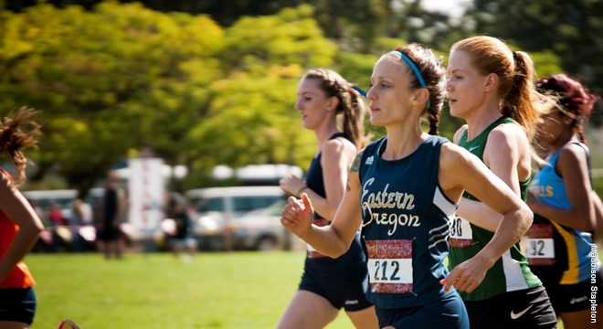 Karlee Coffey (#212), a 3x NAIA national champion (3,000i, 5,000m, and 10,000m) while at Eastern Oregon University in the early 2010s.