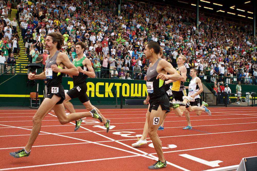 The late David Torrence (9), 2012 Olympic Trials, Men's 1500m Prelim | photo ©  kevmofoto.com