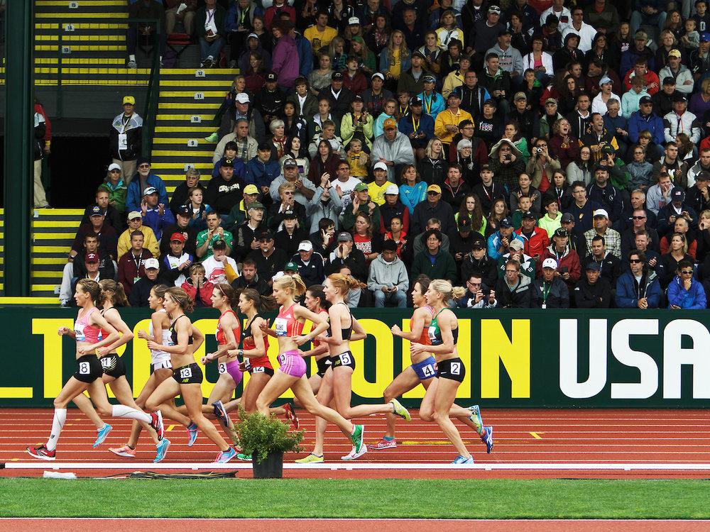 2012 Olympic Trials, Women's 5,000m Prelim  photo © kevmofoto.com