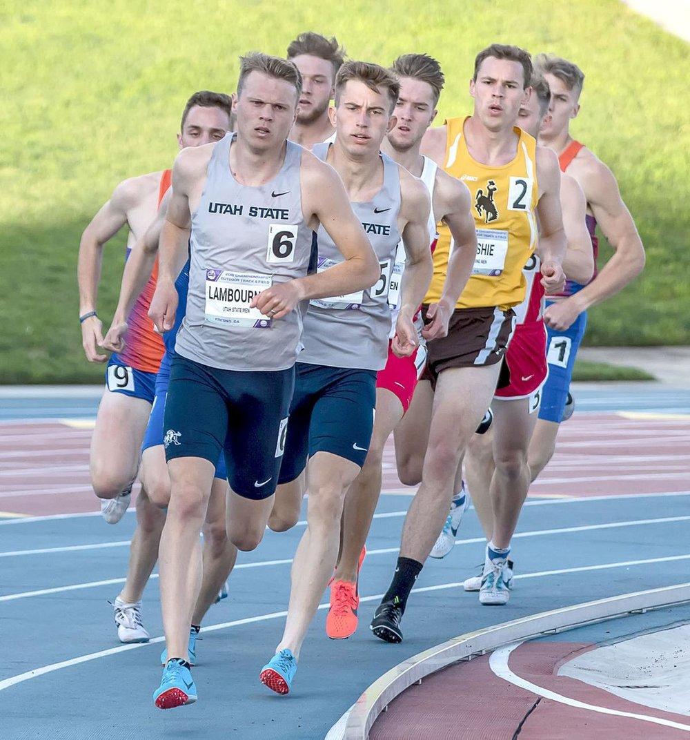 1:47 half-miler and Utah St. graduate Clay Lambourne.