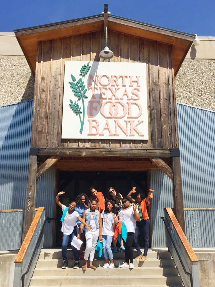 Serving at The North Texas Food Bank during Full On Faith week!
