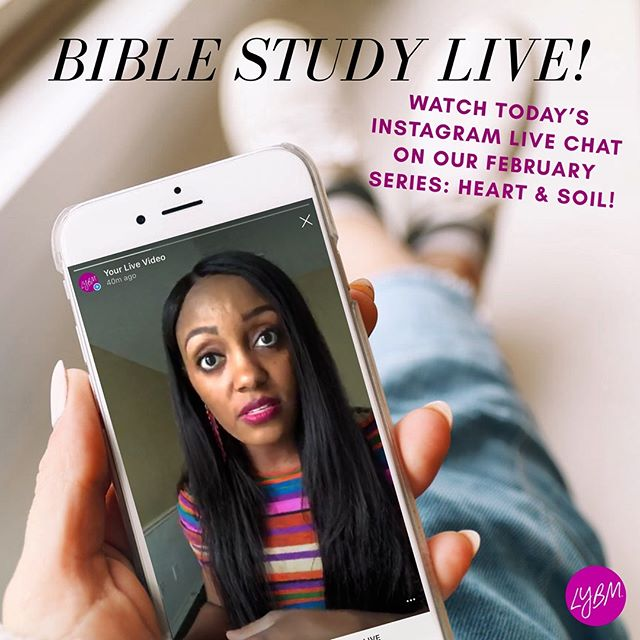 Didn't get a chance to join the live chat today? You can watch the video now! 🎥 Tune in to the discussion & be encouraged by what God is speaking to our hearts! #leaveyourbeautymark #LYBMOBS #heartandsoil #onlinebiblestudy #heartmonth #february