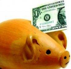 Piggy Bank With Dollar_20090829