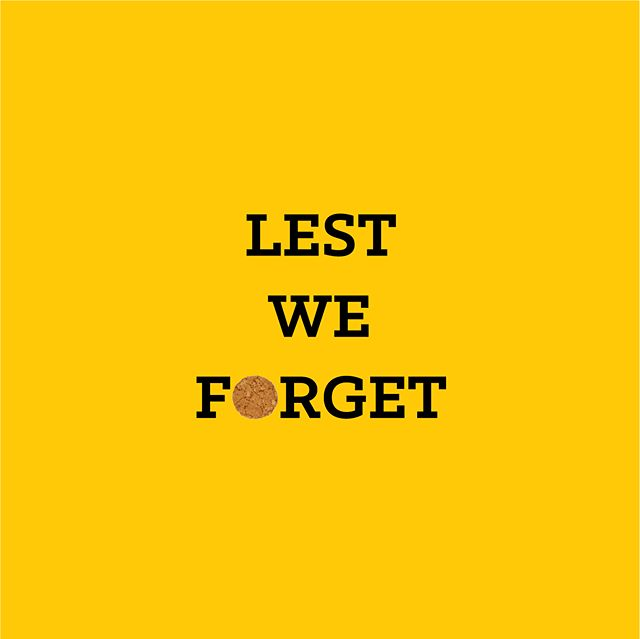 Lest We Forget. We are open today 7am-4pm