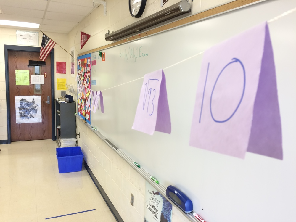 My number line is huuuuge. Great for class, hard to capture in a picture.