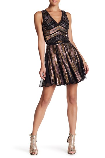 Parker- V-Neck Sleeveless Embellished Sequin Dress