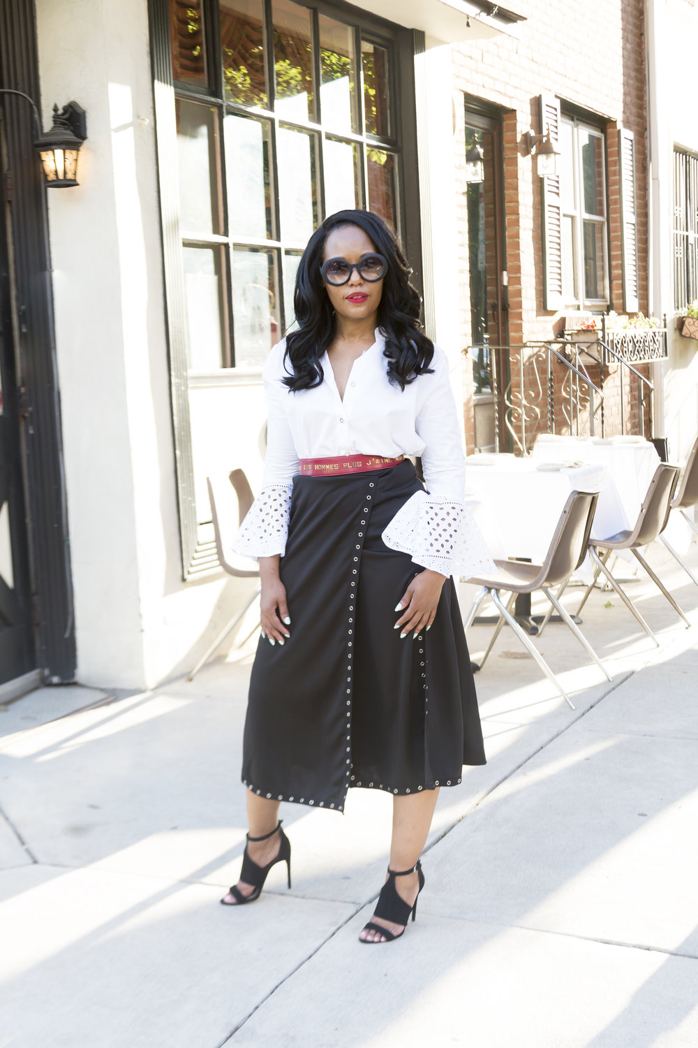 how-I-styled-this-skirt-and-blouse