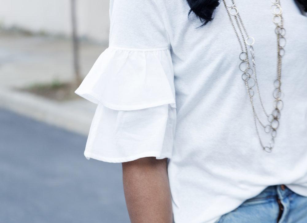 how-to-style-a-flounce-sleeve-top