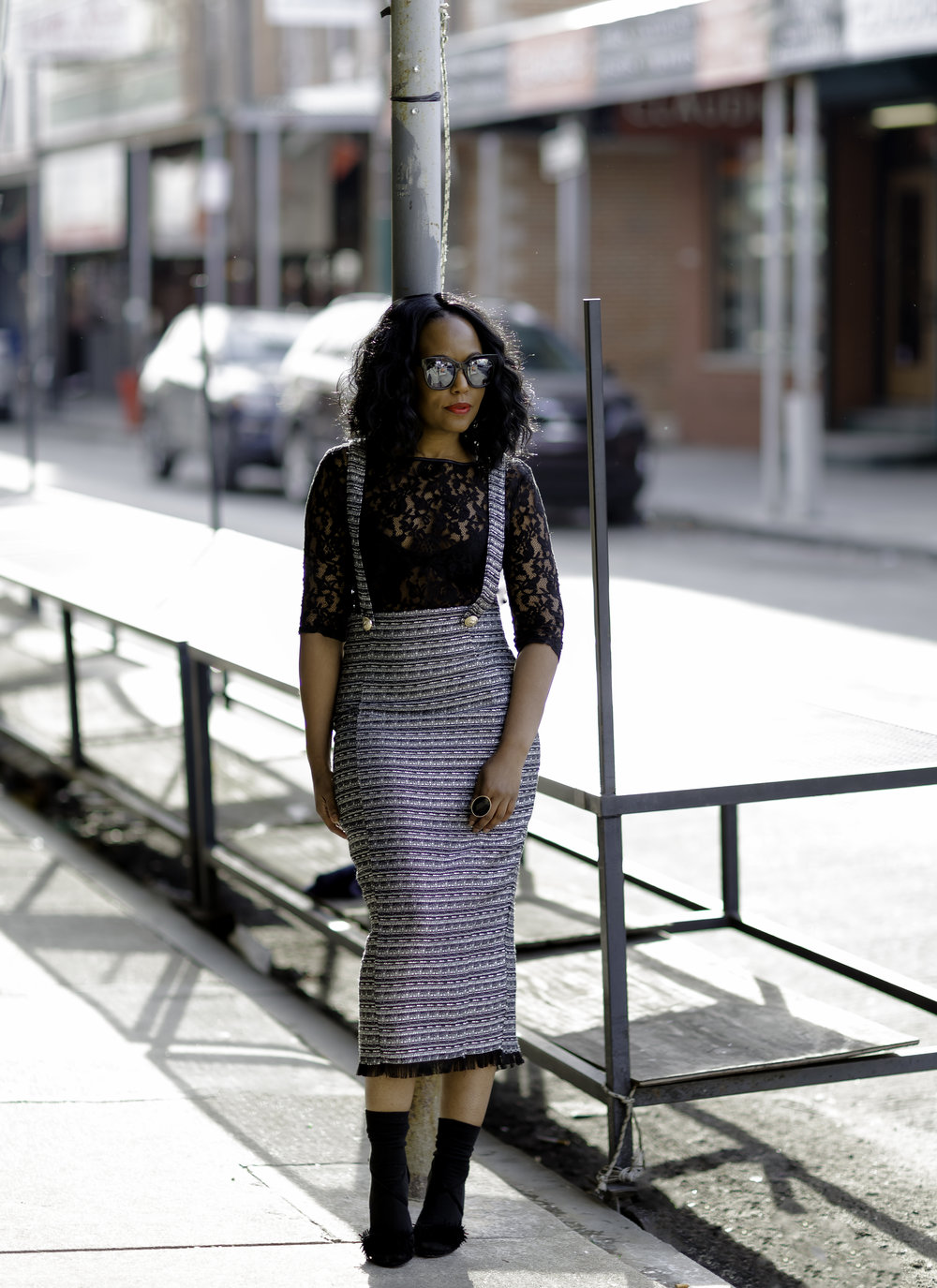 Midi Skirt (Eve Lawrence Boutique ) | Top(Forever21) old | Sandals(Steve Madden) old