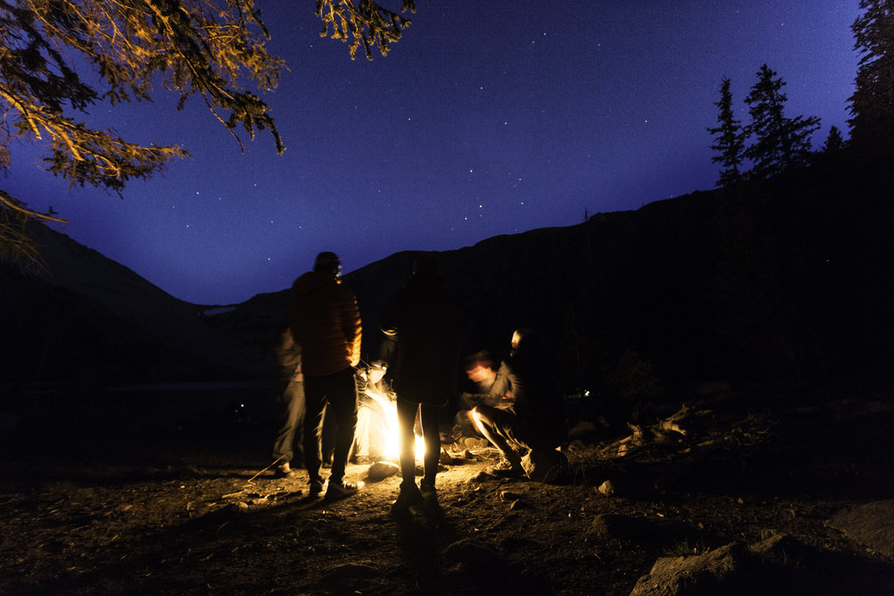 Can't beat stargazing around a fire