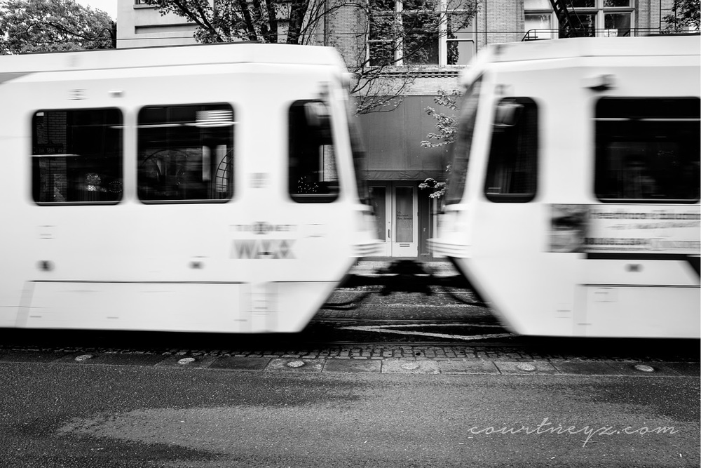 Portland black and white street photography