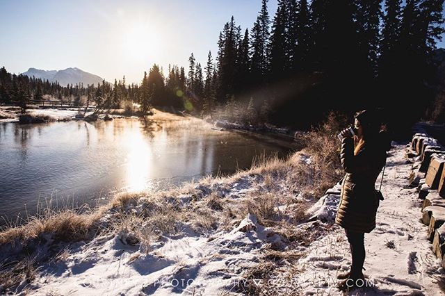 Last week I was up in Canmore, Alberta giving a talk to @reallifeconference about business finance (through my other business @creativehomeroom). My camera was mostly tucked away save for one morning when @feliciachangphoto and I walked to get some coffee. One of the most beautiful places in the world with some of the most beautiful souls. 💗💗💗