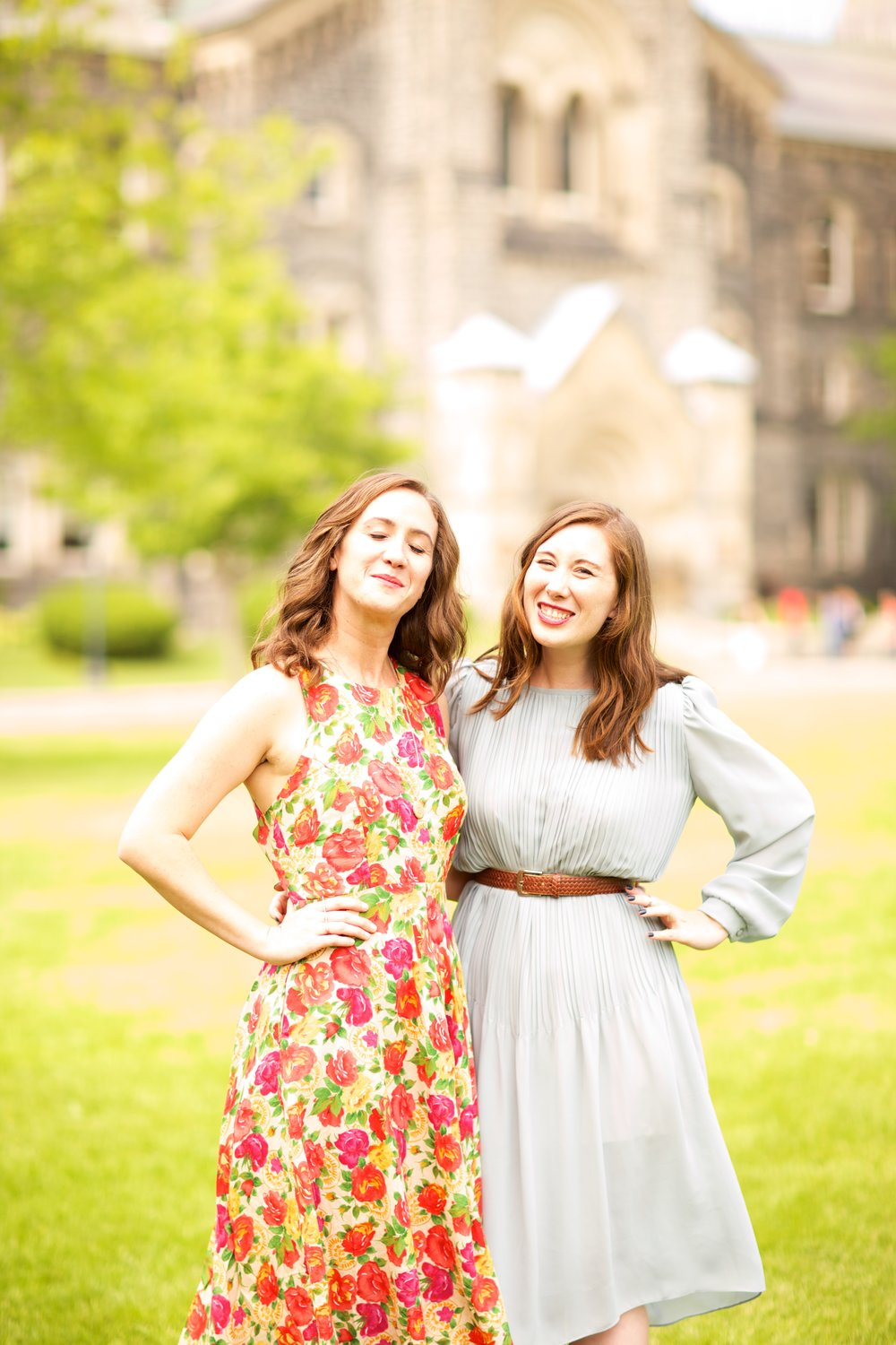 here's a pic of my sister + I being awesome at my masters graduation