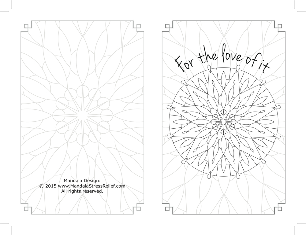 "Back & front of blank notecard, custom design. ""It was an even bigger hit than I expected,"" the Coordinator reported."