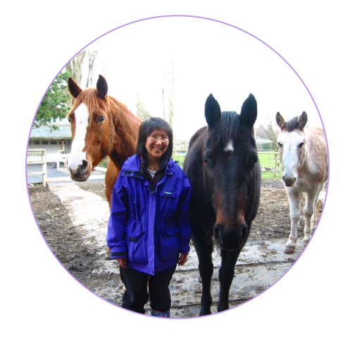 Bev, lover of mandalas, journalling, designing new things, horses, mules, (that's Pete, the mule, on the far right),  and experimenting with new recipes!