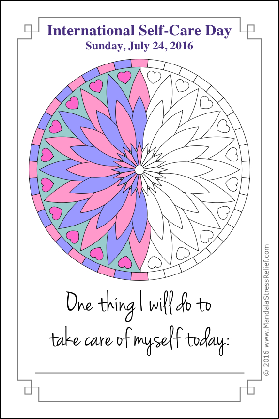 A colouring card based on a mandala from the  One-Line Journal Card  series. Download this below. Includes list of tips!