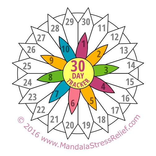 """Download the """"30-Day Mandala"""" to colour in, by clicking here."""