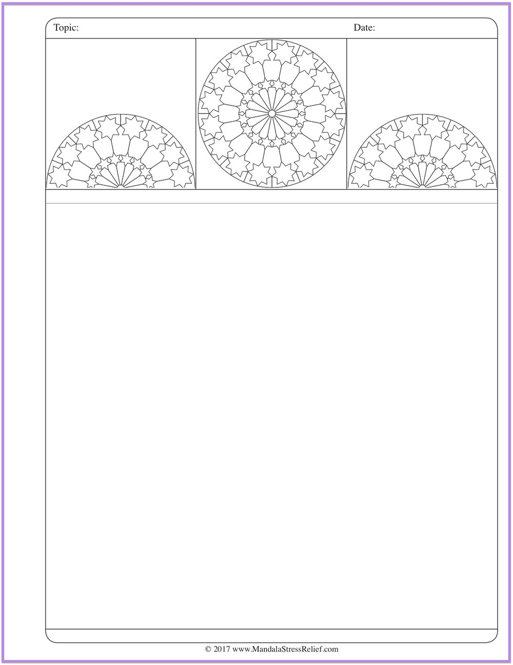 Download  this new Mandala Colour-Journalling page.
