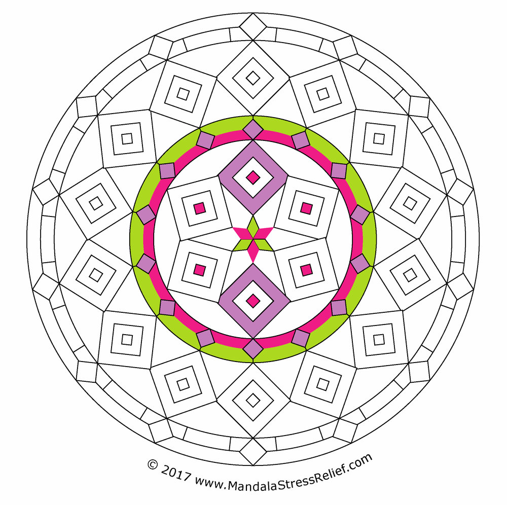 Colouring a mandala is a way to help me think and journal, even if I do very little colouring!